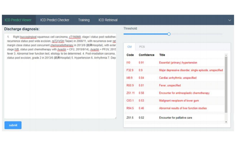 智慧醫院 ICD10 病歷分類自動編碼系統