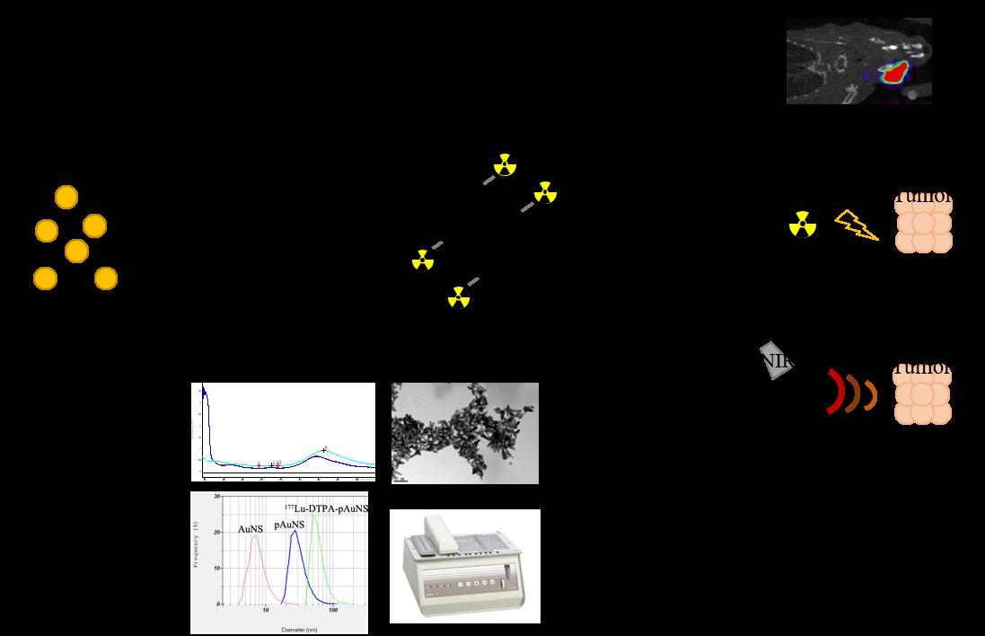 鎦-177奈米金星: 新式核醫奈米診療材料藥物之研發