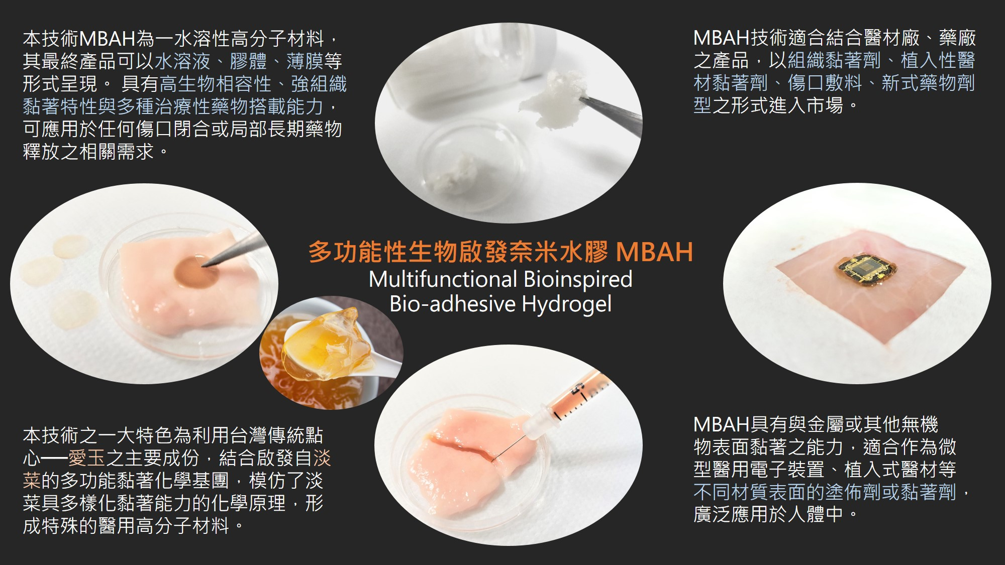 Multifunctional Bioinspired Bio-adhesive Hydrogel, MBAH