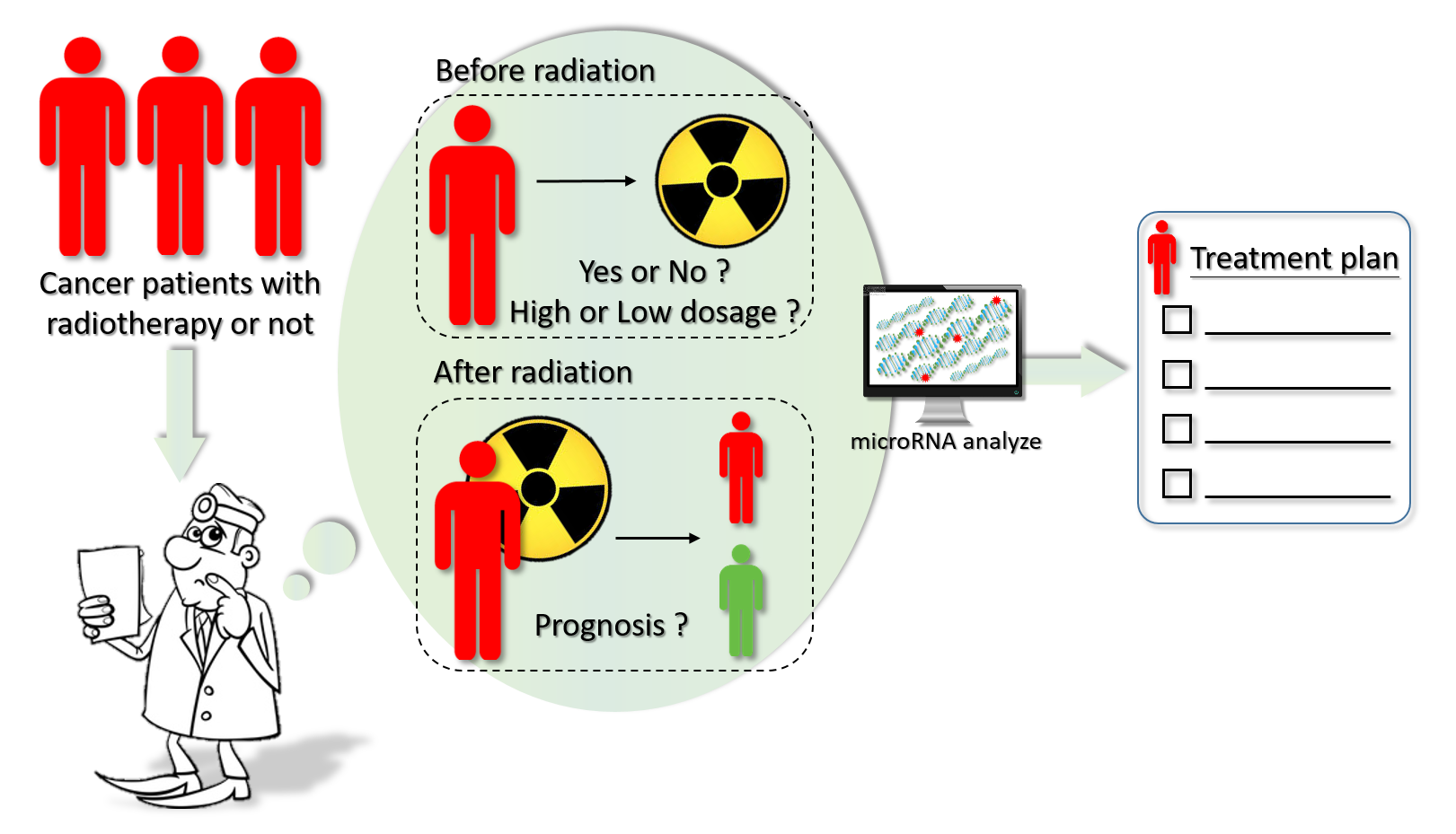 Analyzermethod for predicting the prognosis of cancer after radiation therapy
