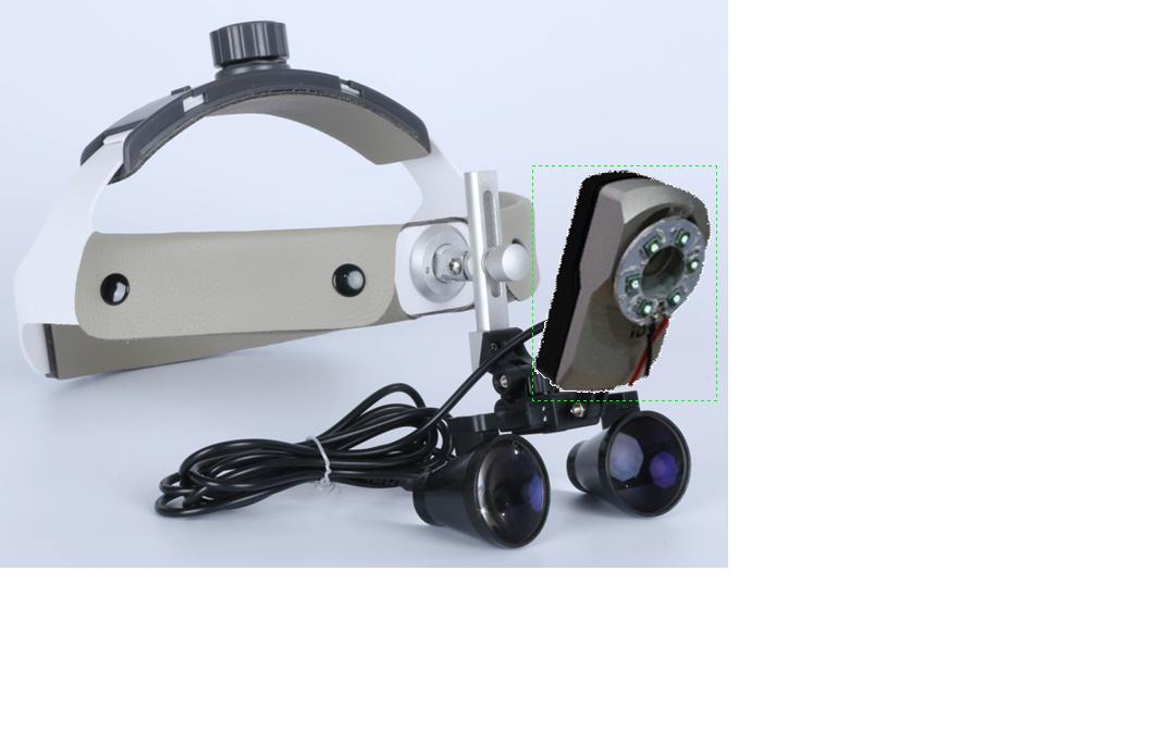 Medical coaxial LED headlightvideo recording system