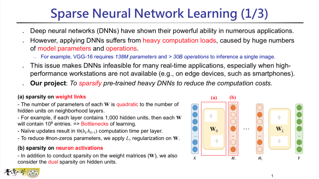 Sparse Neural Network Learning