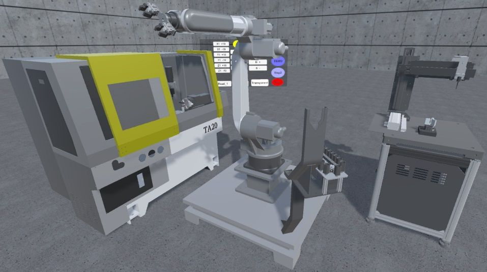 Interactive VR/AR Cyber-Physical Application Integration Technology towards Intelligent Manufacturing for Networked Multiple Machinery