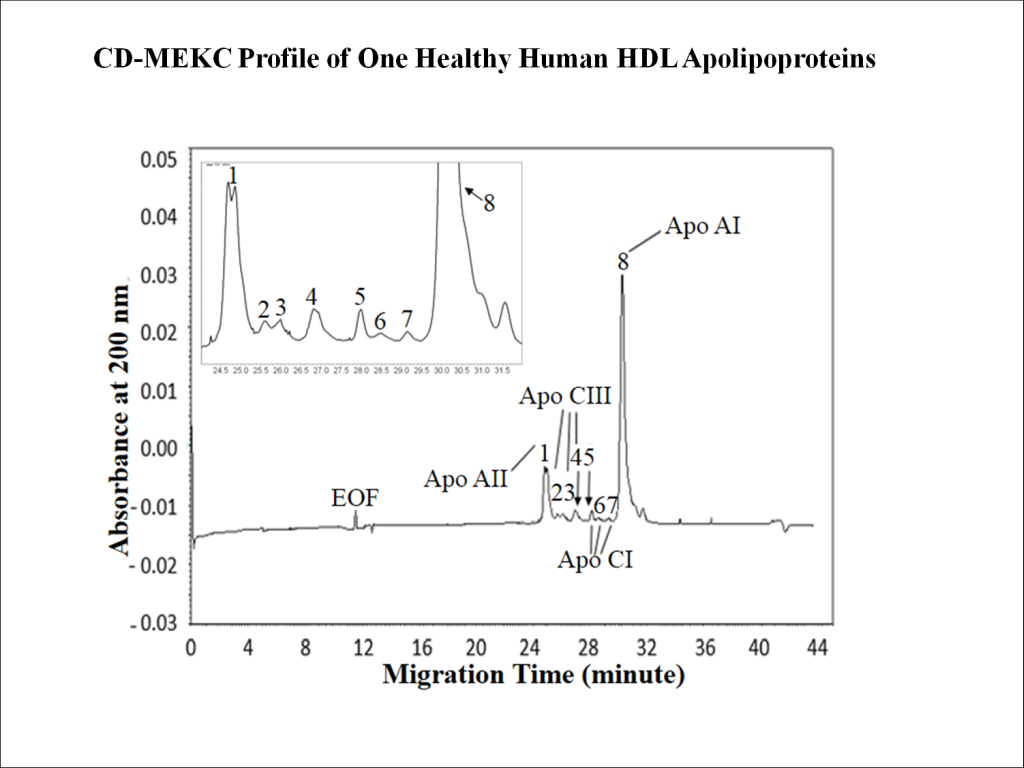 Method and Kit for Quantitative Analysis of the Apolipoproteins in High Density Lipoprotein by Capillary Electrophoresis