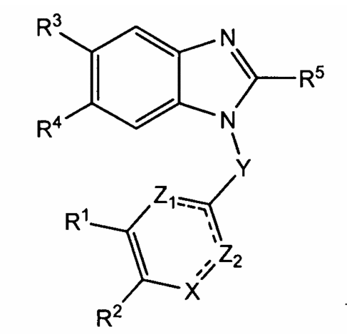 A pharmaceutical composition comprising the benzimidazole compounds for use as an antiplatelet or antithrombotic agent, or for use in the treatment of cancer, or cardiovascular and cerebrovascular dis