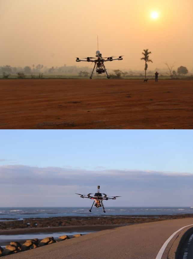 All weather UAVs/sensors for atmosphere and air quality monitoring