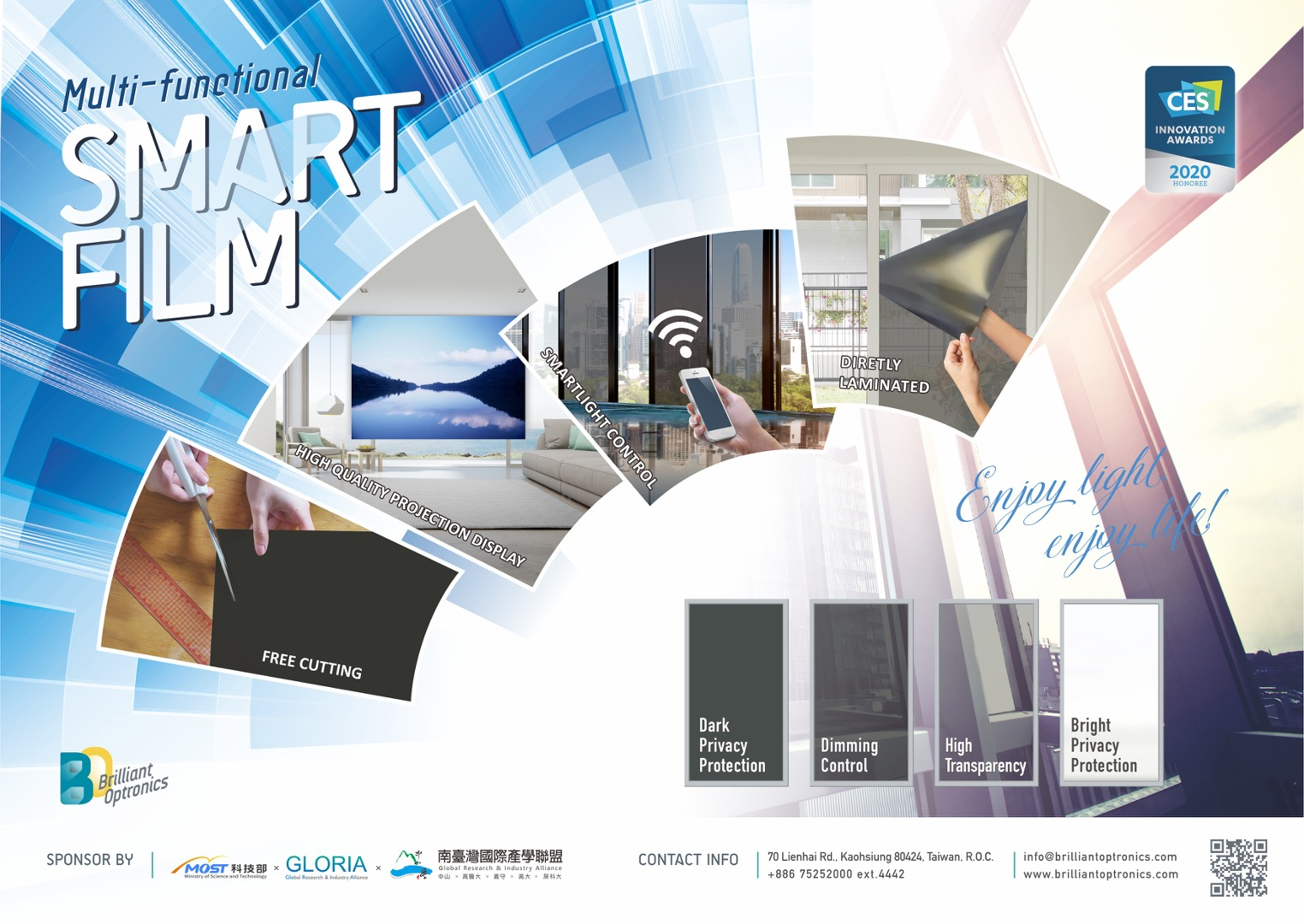 Multi-function smart window film