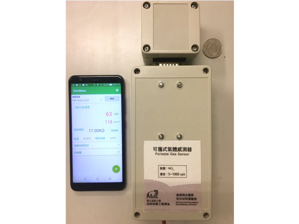 Cloud access environmental nitrogen dioxide gas sensor