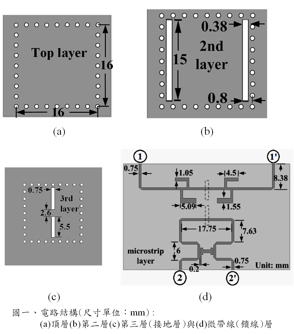 Folded substrate integrated waveguide bandpass filter