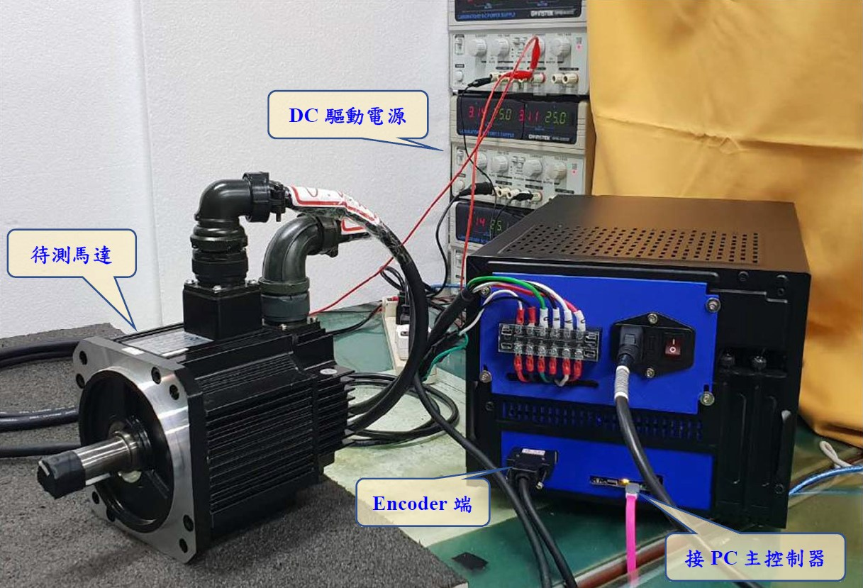 Self-driving measurement and calibration system for the servo motor encoder installation