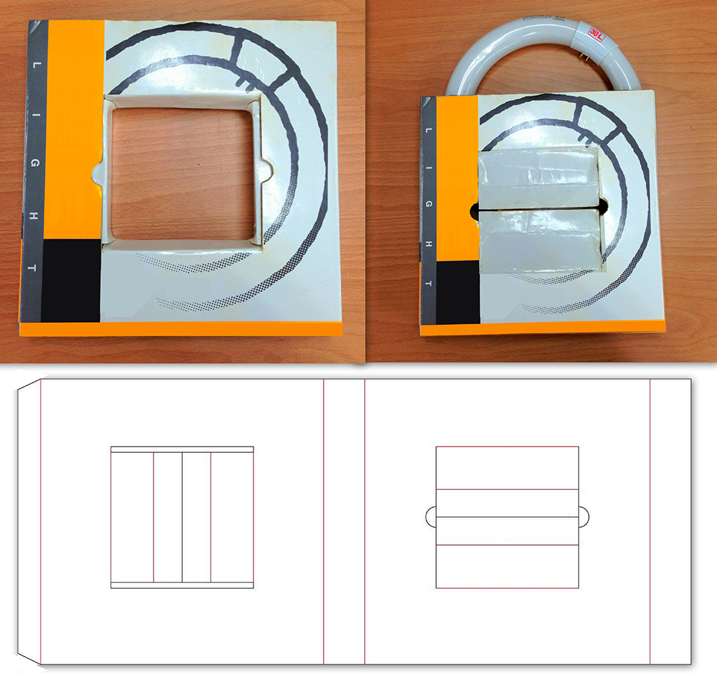 Packaging Box Structure of Ring Shape
