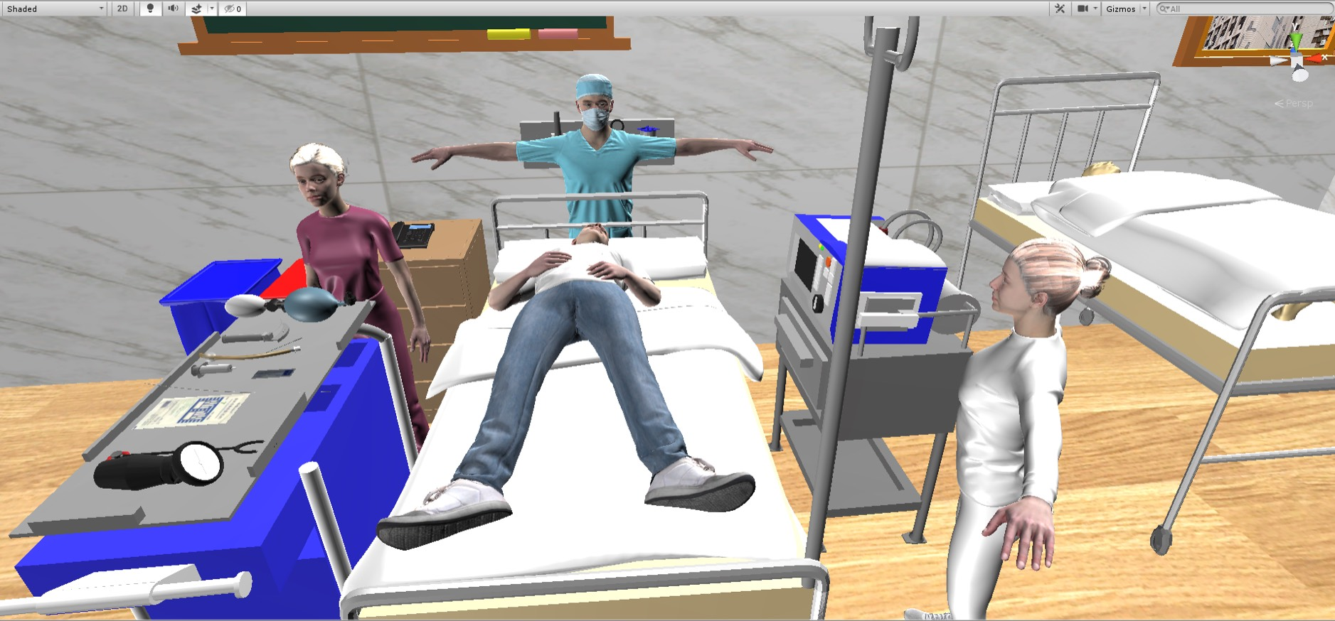 Immersive Virtual Reality Emergency Care Situation Simulation System